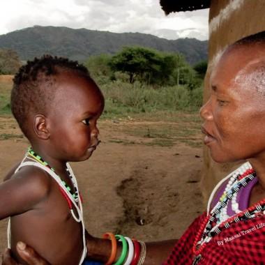 nonna e nipote masai
